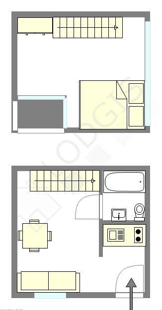 Duplex Paris 3° - Plan interactif