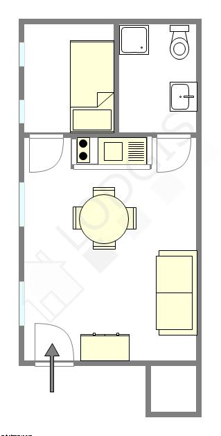 Apartment Paris 4° - Interactive plan