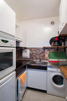 Belle cuisine de 3m² avec du carrelage au sol