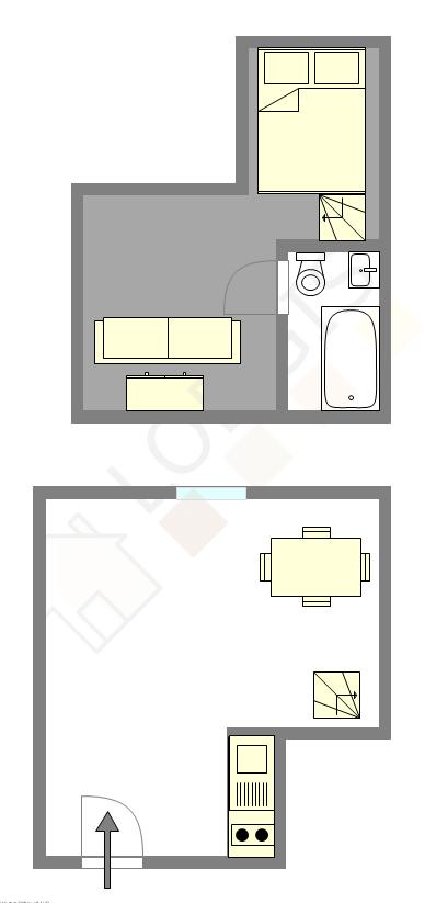 Appartement Paris 3° - Plan interactif