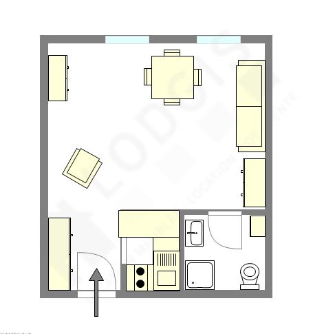 Appartement Paris 11° - Plan interactif