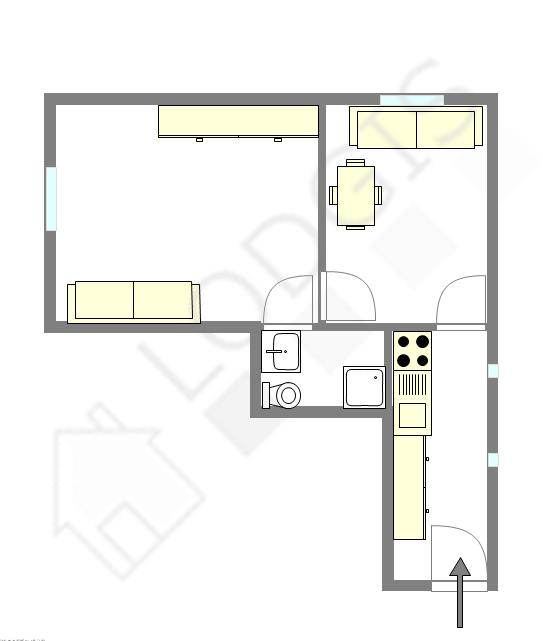 location appartement 1 chambre paris 11 rue oberkampf. Black Bedroom Furniture Sets. Home Design Ideas