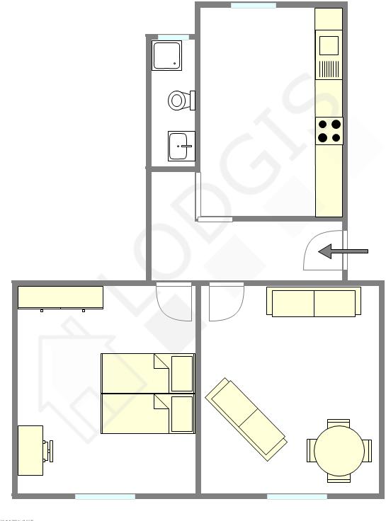 Wohnung Paris 19° - Interaktiven Plan