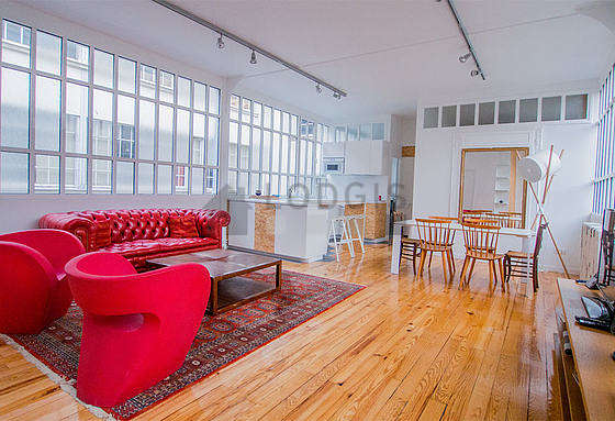 Quiet living room furnished with 1 sofabed(s) of 160cm, 1 futon(s) of 160cm, tv, dvd player