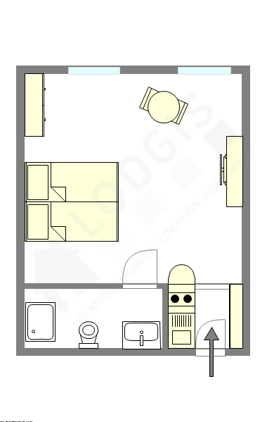Apartment Paris 7° - Interactive plan