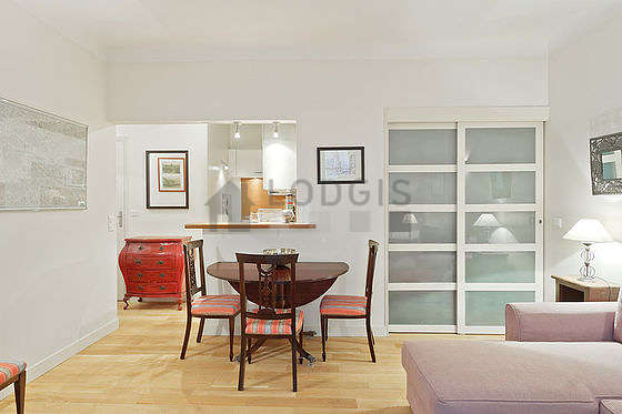 Apartment Paris 5  Living room Jardin des Plantes Square Vermenouze Monthly furnished