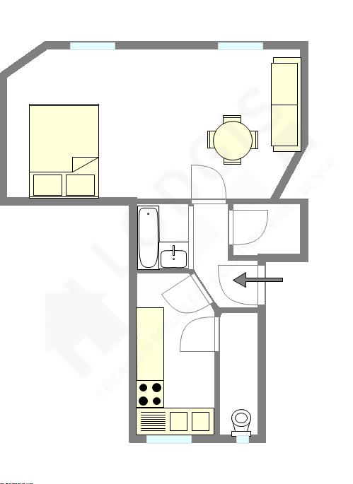Wohnung Paris 18° - Interaktiven Plan