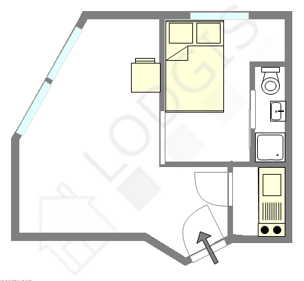 公寓 巴黎20区 - 互动图