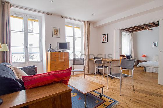 location appartement 2 chambres paris 3 rue charles fran ois dupuis meubl 50 m le marais. Black Bedroom Furniture Sets. Home Design Ideas