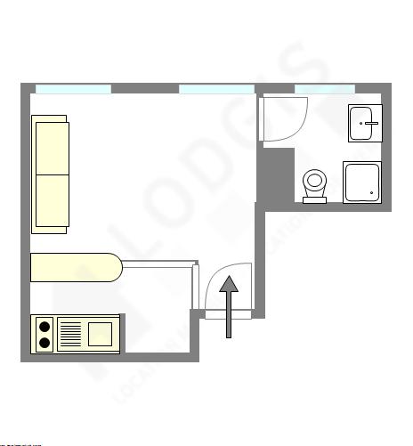 Квартира Париж 14° - Интерактивный план