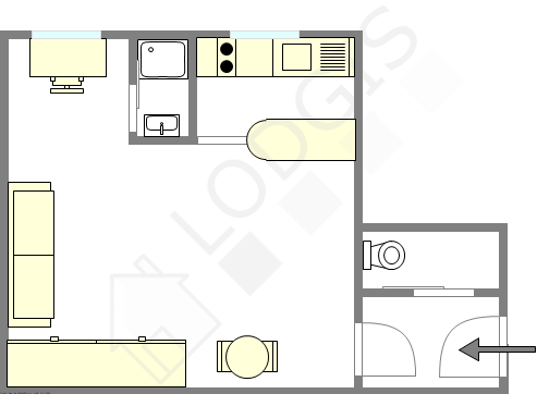 Appartement Paris 1° - Plan interactif