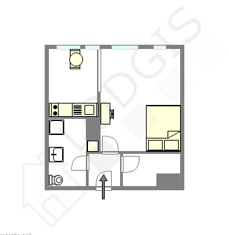 Appartement Paris 13° - Plan interactif