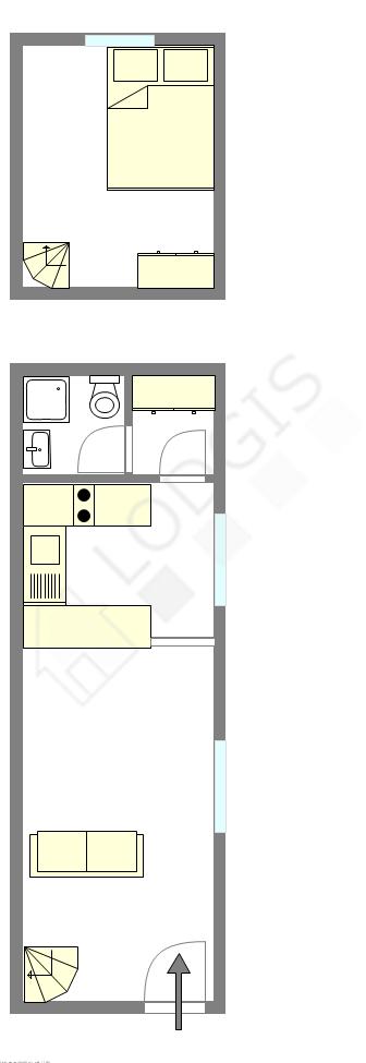 雙層公寓 巴黎15区 - 互動圖
