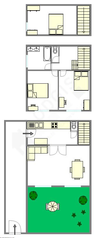 Maison individuelle Hauts de seine Sud - Plan interactif