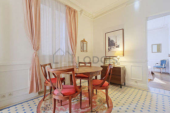 Beautiful dining room with tile floor for 4 person(s)