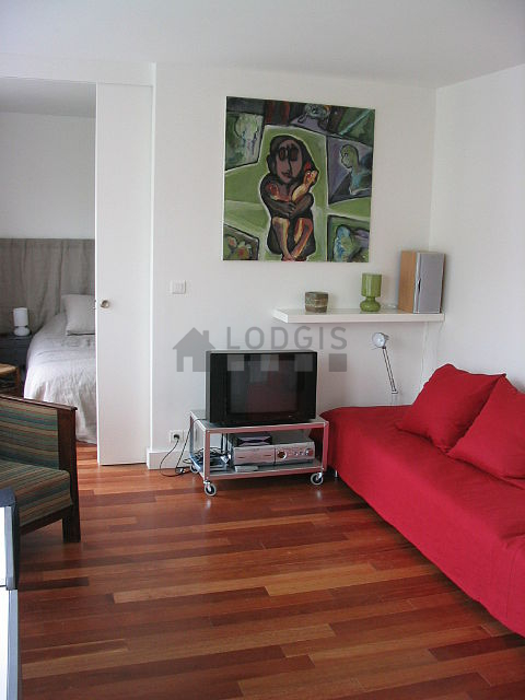 Séjour très calme équipé de 2 canapé(s) lit(s) de 90cm, téléviseur, chaine hifi