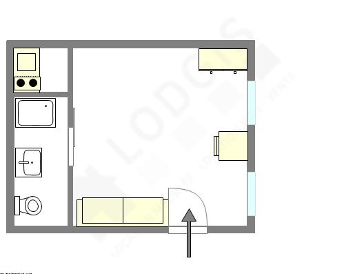 公寓 巴黎11区 - 互動圖