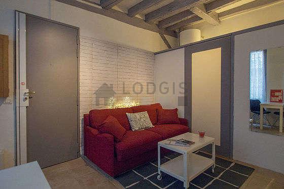Séjour calme équipé de 1 canapé(s) lit(s) de 140cm, téléviseur, chaine hifi, armoire