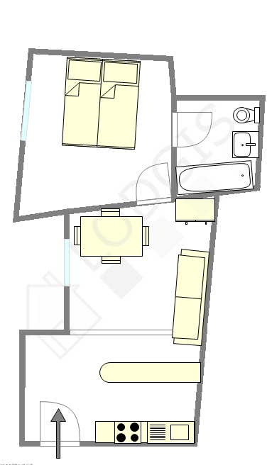 Wohnung Paris 9° - Interaktiven Plan