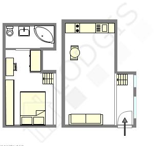 雙層公寓 巴黎7区 - 互動圖