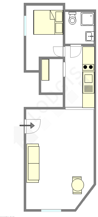 Appartamento Parigi 2° - Piantina interattiva