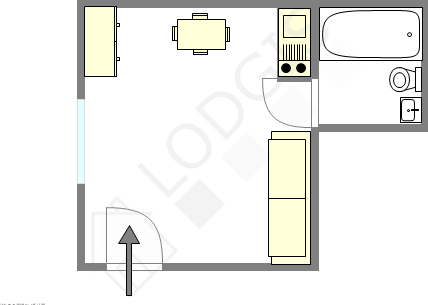 Apartment Paris 5° - Interactive plan