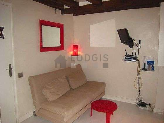 Very quiet living room furnished with 1 sofabed(s) of 160cm, tv, closet