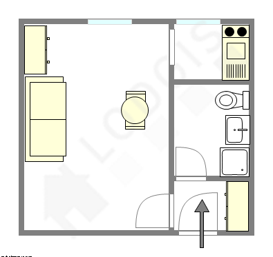 Appartamento Parigi 7° - Piantina interattiva