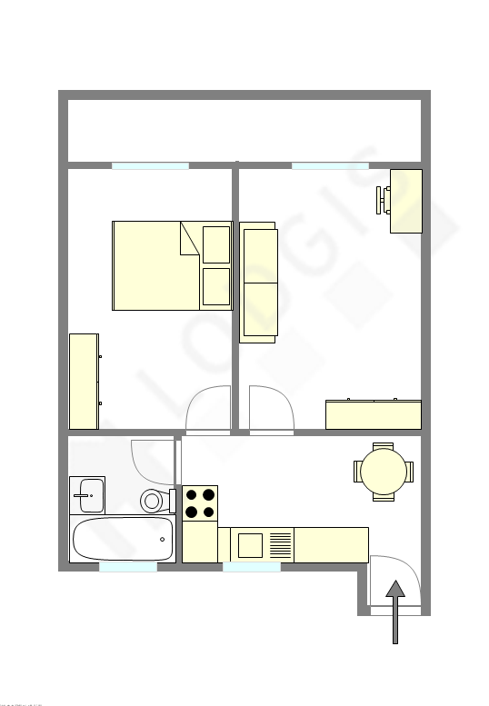 Wohnung Paris 15° - Interaktiven Plan