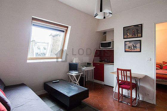 Living room with floor tiles floor