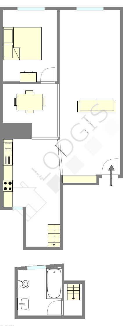 Duplex Paris 1° - Plan interactif