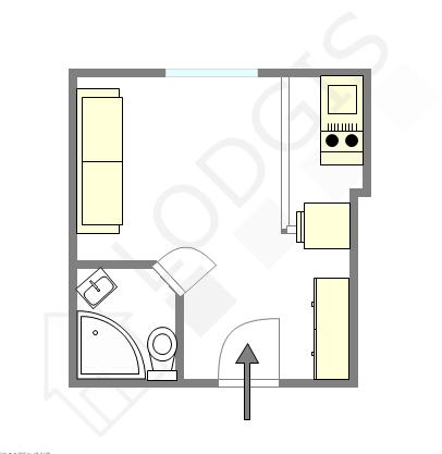 Квартира Париж 20° - Интерактивный план