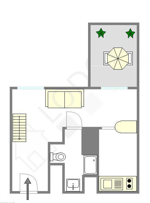 Duplex Paris 4° - Interactive plan