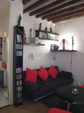 Séjour calme équipé de 1 canapé(s) lit(s) de 120cm, téléviseur, chaine hifi