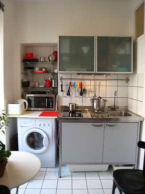Bright kitchen with windows facing the garden