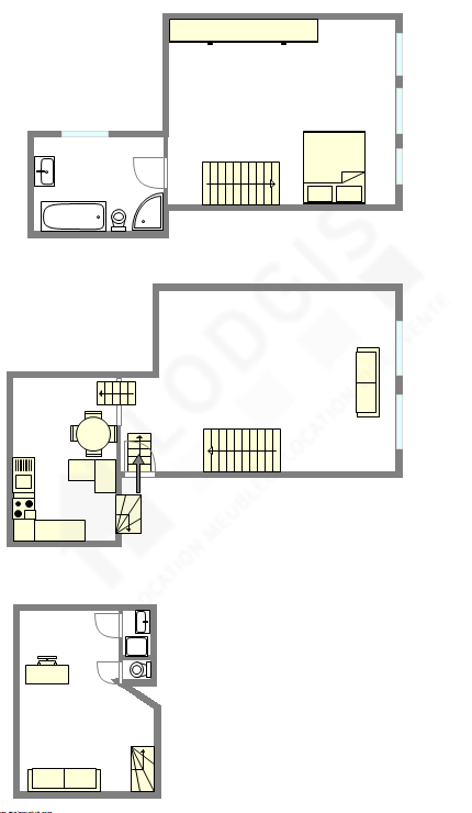 Triplex Paris 4° - Plan interactif