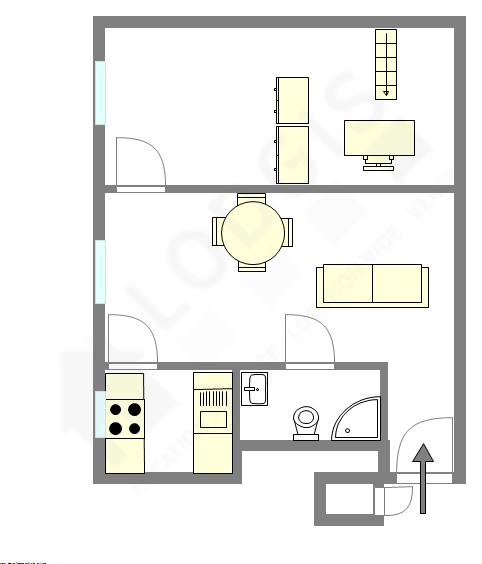 Apartamento Hauts de seine Sud - Plano interactivo