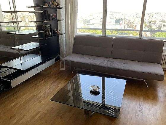Quiet living room furnished with 1 sofabed(s) of 140cm, tv, storage space, 6 chair(s)