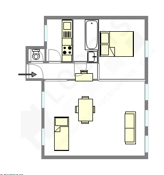 Wohnung Paris 10° - Interaktiven Plan