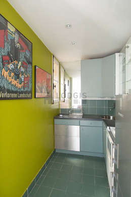 Beautiful kitchen of 5m² with tile floor