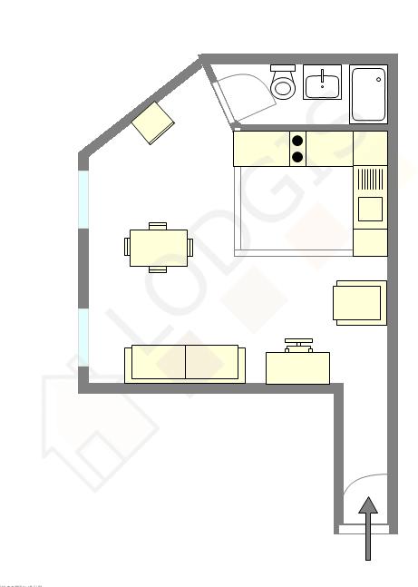 Квартира Париж 5° - Интерактивный план