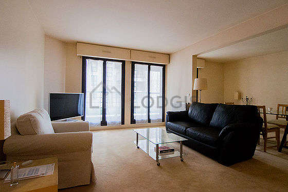 Very quiet living room furnished with 2 sofabed(s), tv, 1 armchair(s)