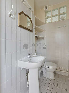 Bathroom equipped with bath tub, shower in bath tub