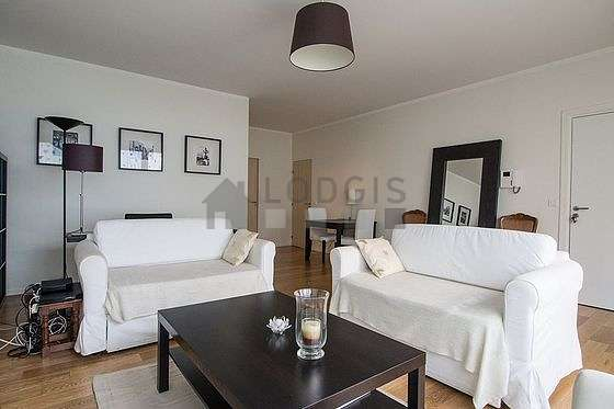 Very quiet living room furnished with 1 sofabed(s) of 120cm, tv, 1 armchair(s), 3 chair(s)