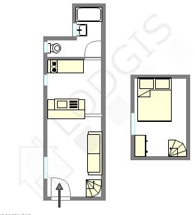 Duplex Paris 15° - Plan interactif
