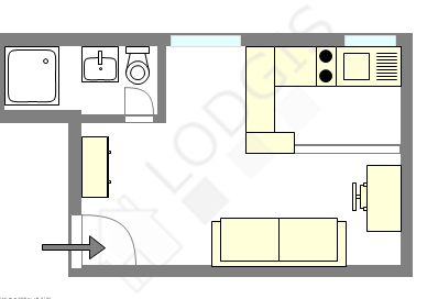 Apartamento París 16° - Plano interactivo