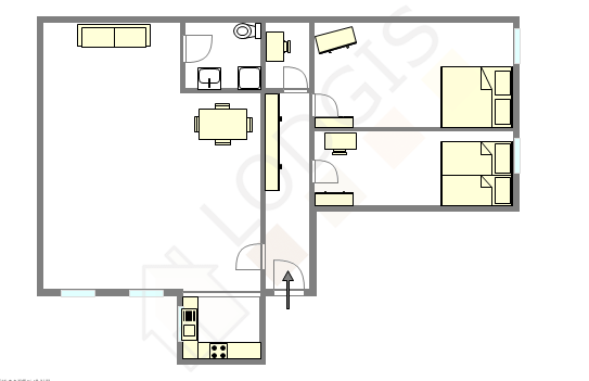 Wohnung Paris 3° - Interaktiven Plan
