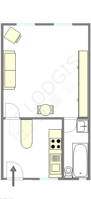 公寓 巴黎4区 - 互動圖