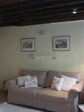 Quiet living room furnished with 1 sofabed(s) of 160cm, tv, 2 armchair(s), 2 chair(s)