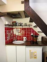 雙層公寓 巴黎5区 - 廚房